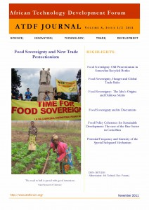 Cover Food Sovereignty Journal